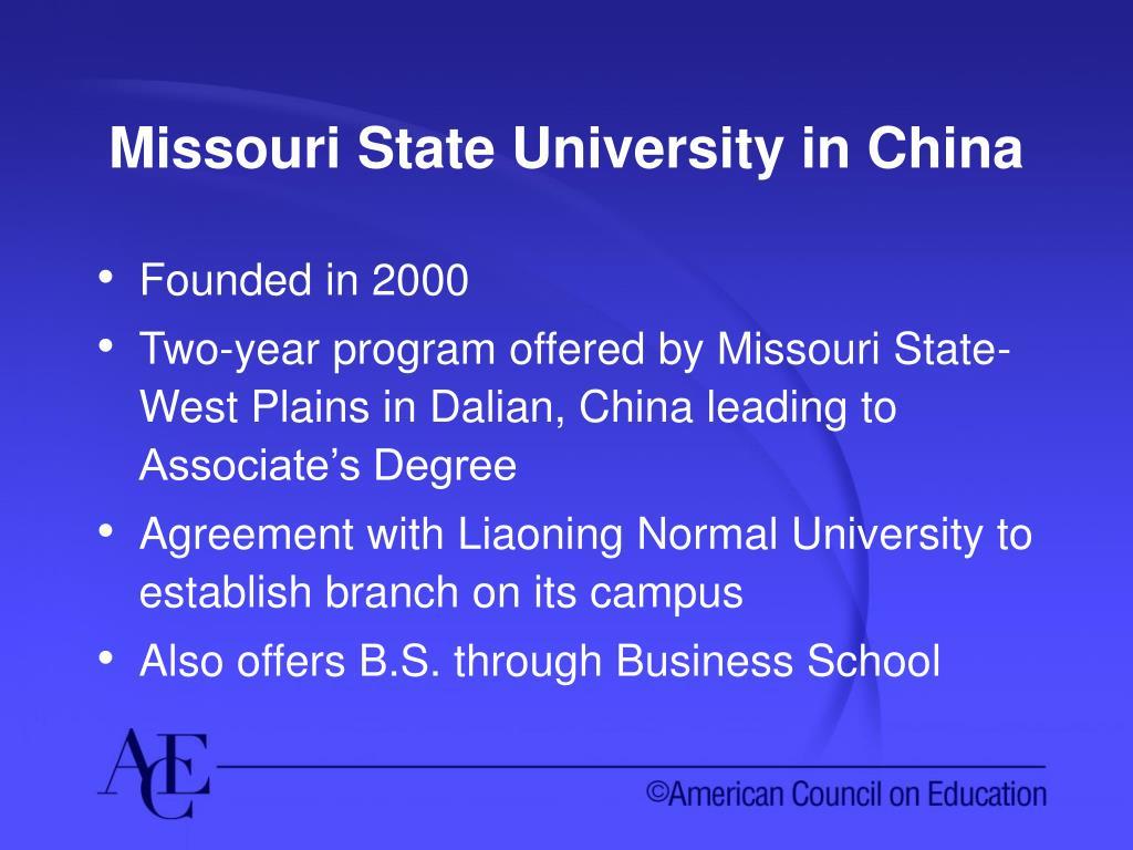Missouri State University in China