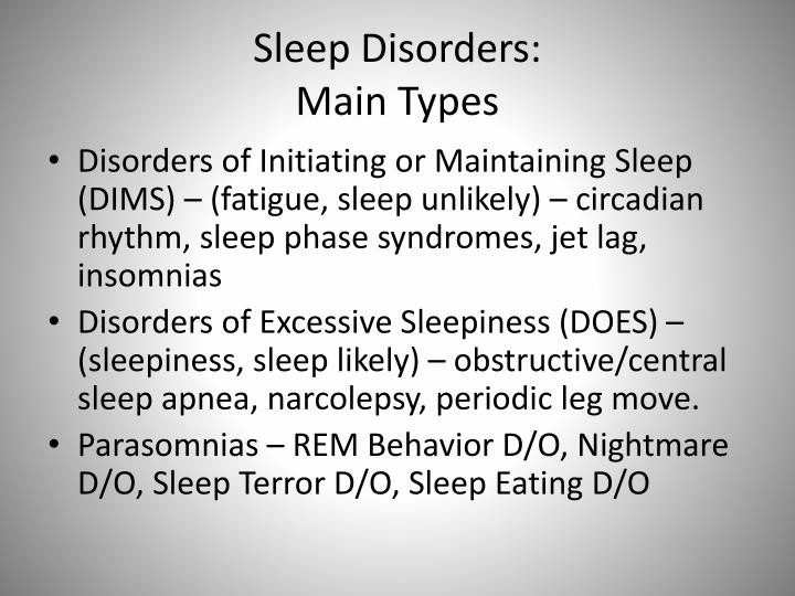 an analysis of the forms and treatment of sleep disorders Cognitive behavioral therapy for insomnia cognitive behavioral therapy for insomnia (cbt cbt-i has been found to be an effective form of treatment of insomnia this is evident in the high rate of comorbidity with psychiatric disorders and insomnia and other sleep disorders.