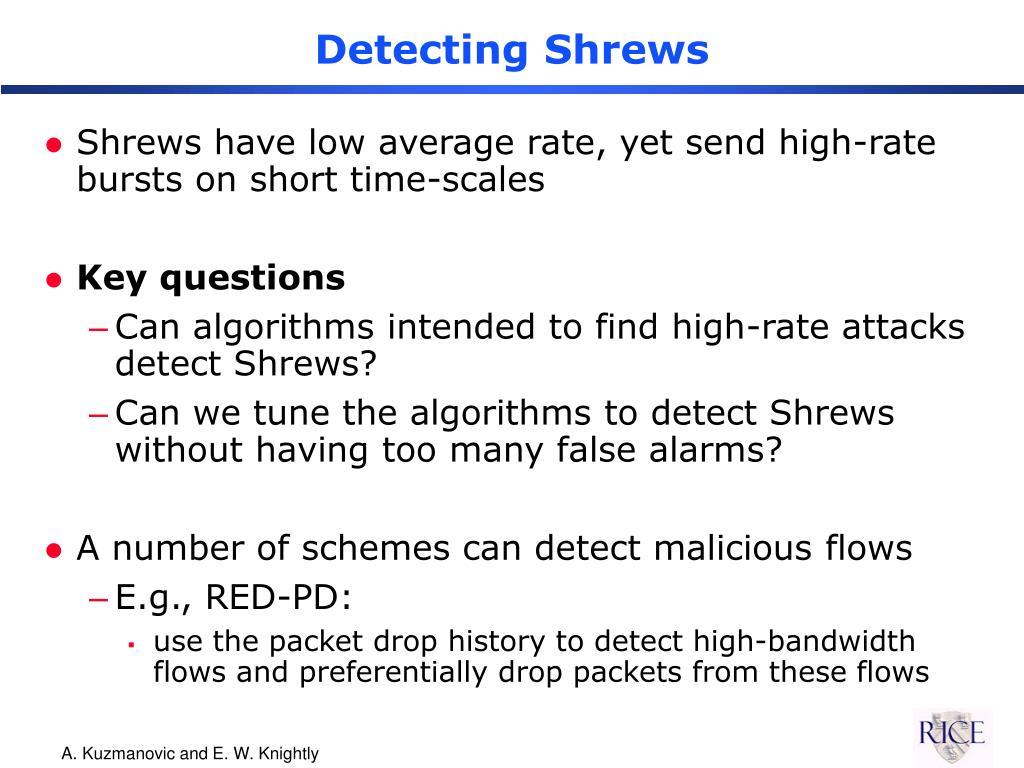 Detecting Shrews