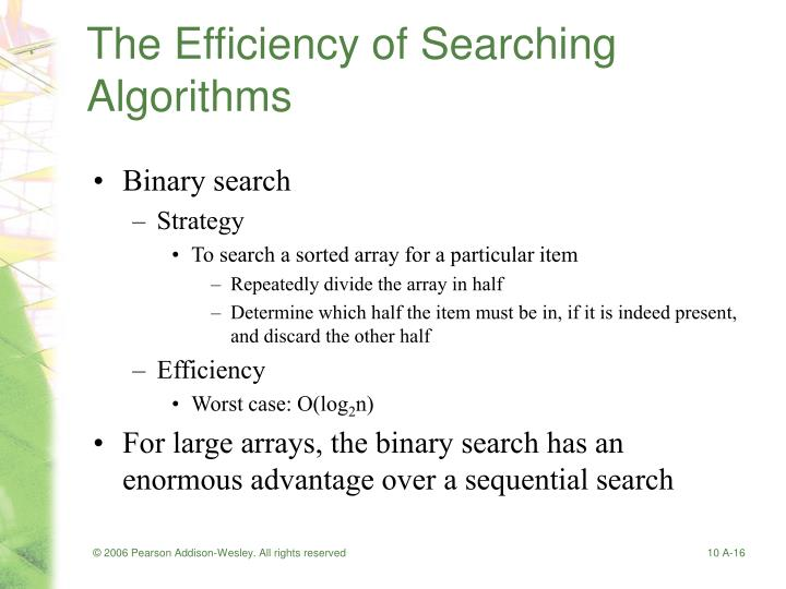 The Efficiency of Searching Algorithms
