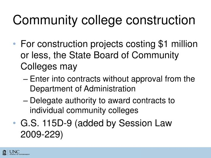 Community college construction