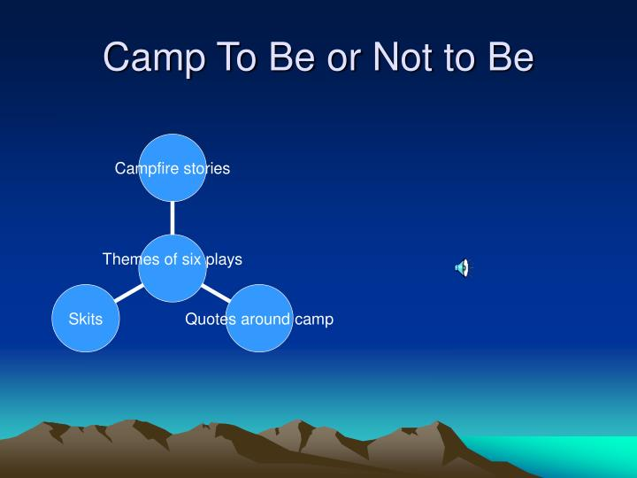 Camp to be or not to be