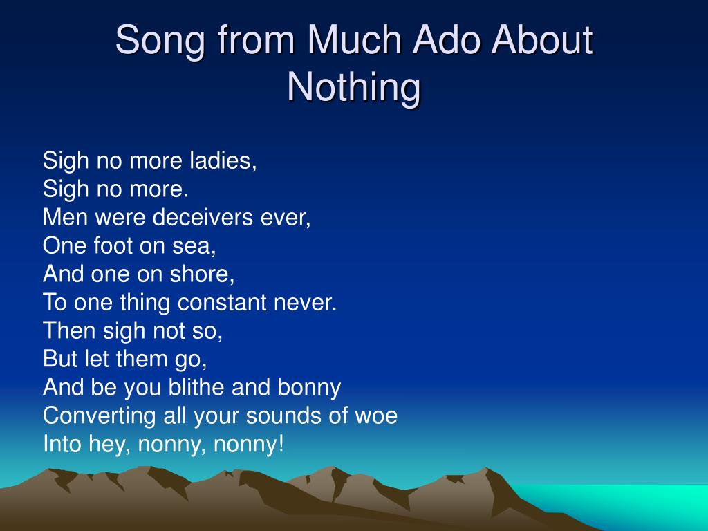 Song from Much Ado About Nothing