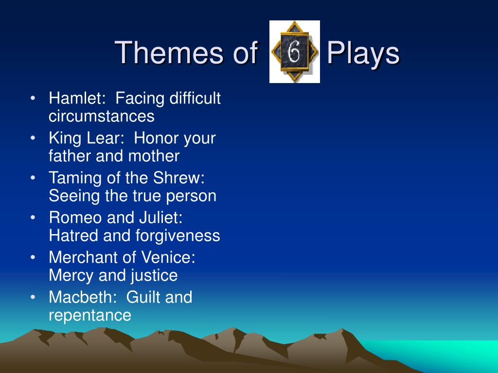 Themes of        Plays