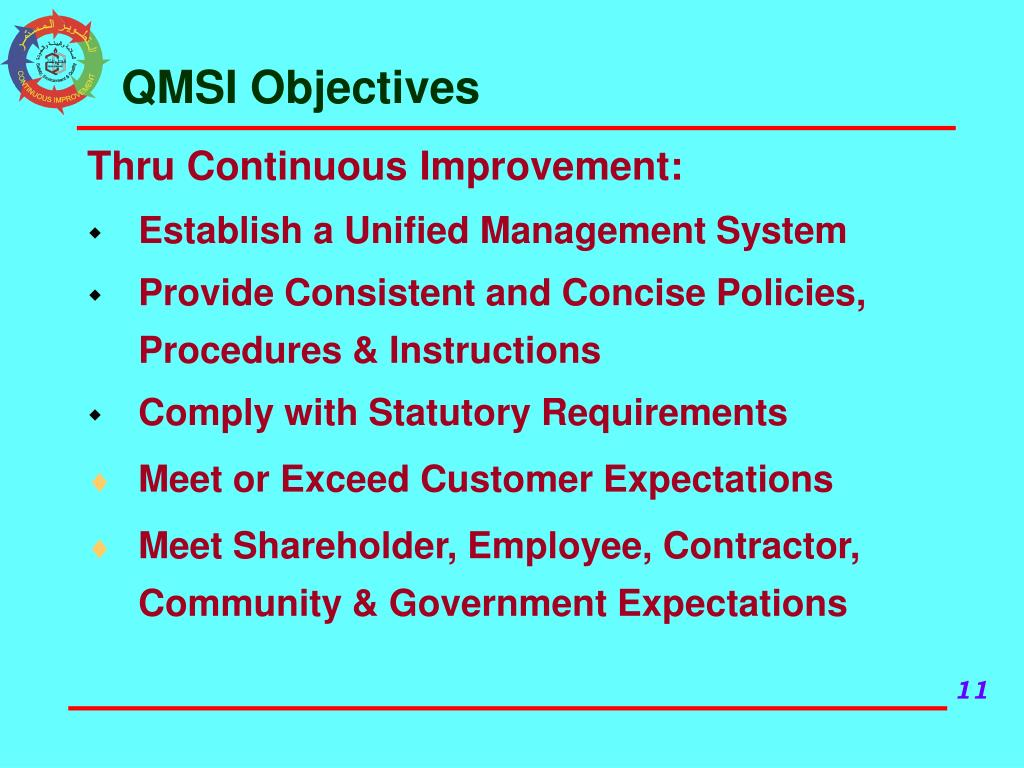 QMSI Objectives