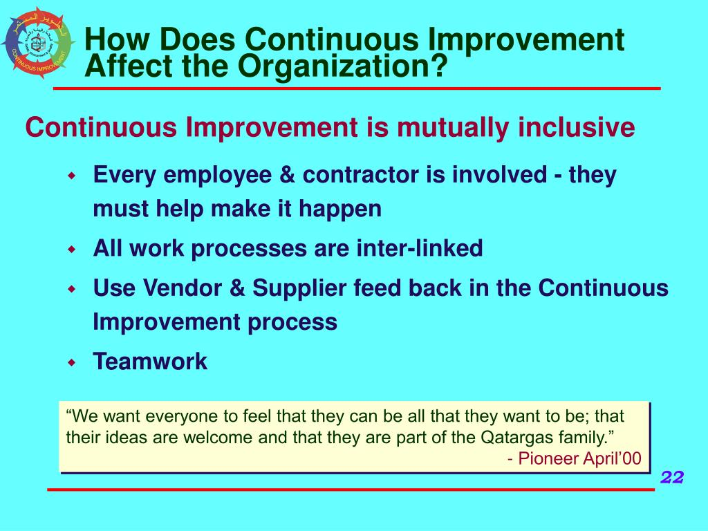 How Does Continuous Improvement Affect the Organization?