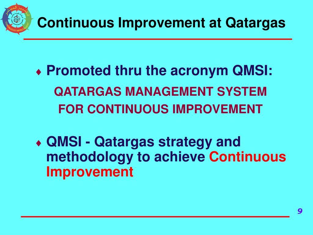 Continuous Improvement at Qatargas