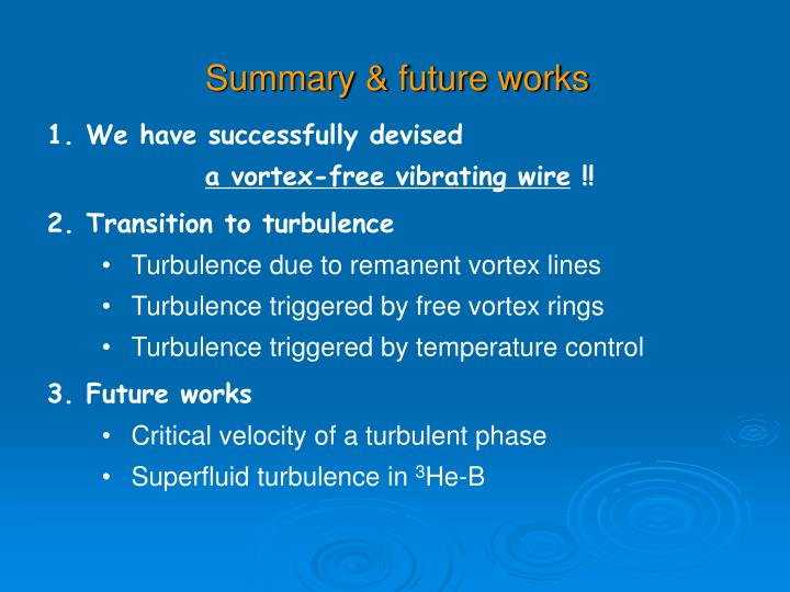 Summary & future works