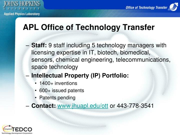 APL Office of Technology Transfer