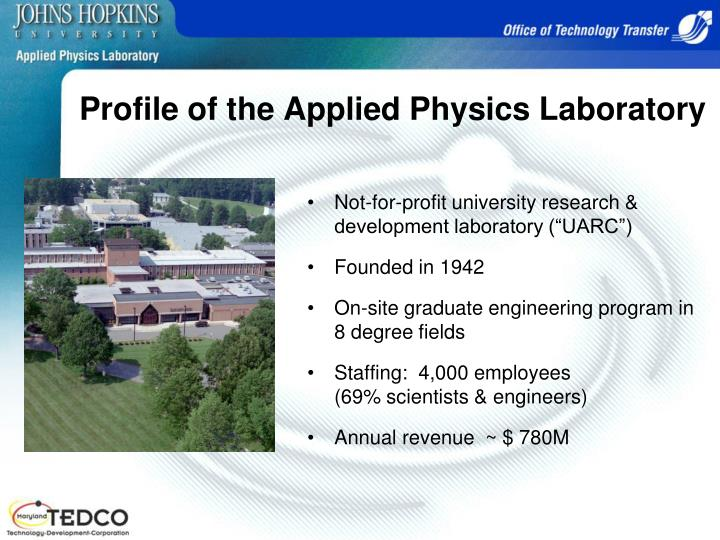 Profile of the applied physics laboratory
