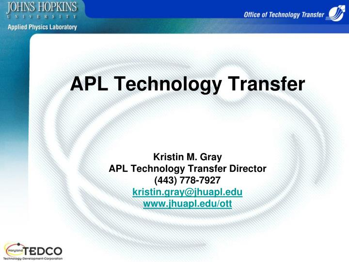 APL Technology Transfer