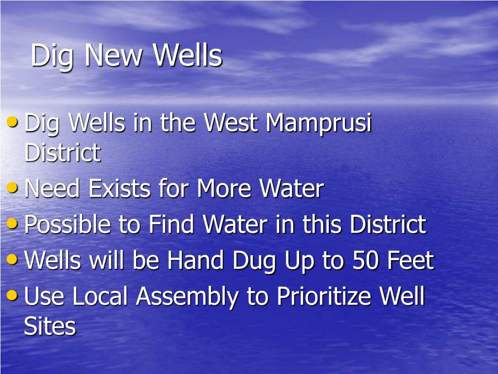 Dig Wells in the West Mamprusi District