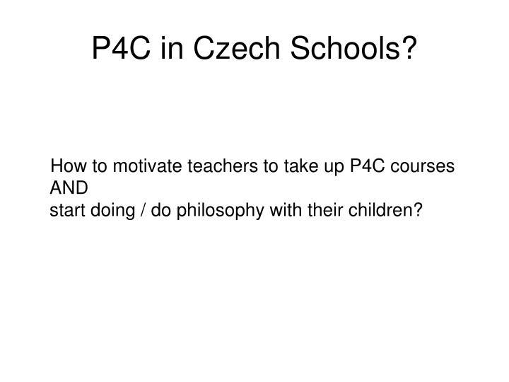 P4C in Czech Schools?