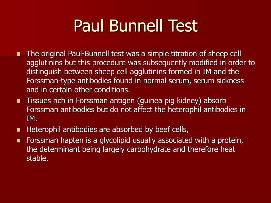 Paul Bunnell Test