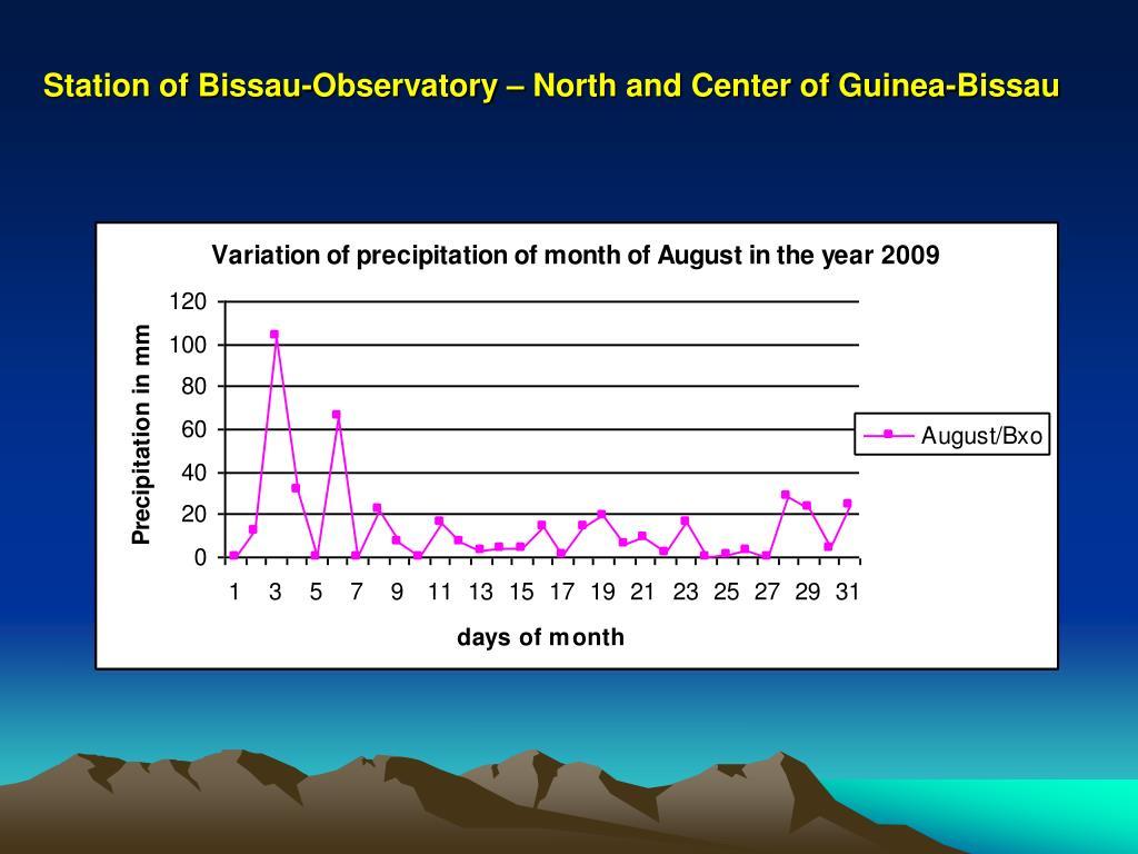 Station of Bissau-Observatory – North and Center of Guinea-Bissau