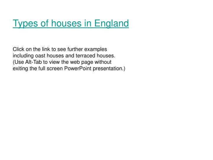 Types of houses in England