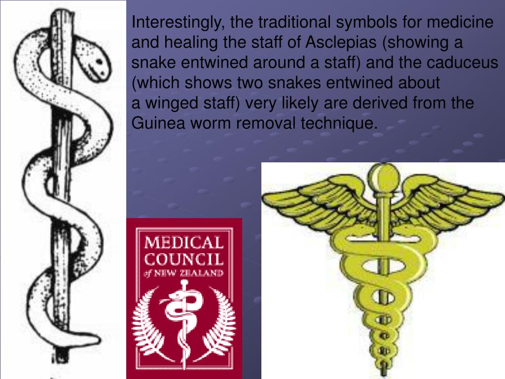 Interestingly, the traditional symbols for medicine