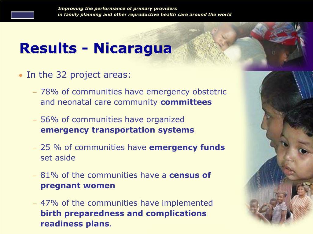 Results - Nicaragua