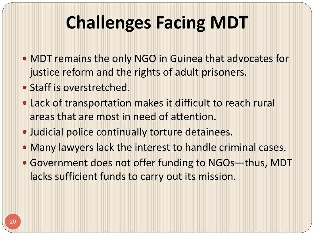 Challenges Facing MDT