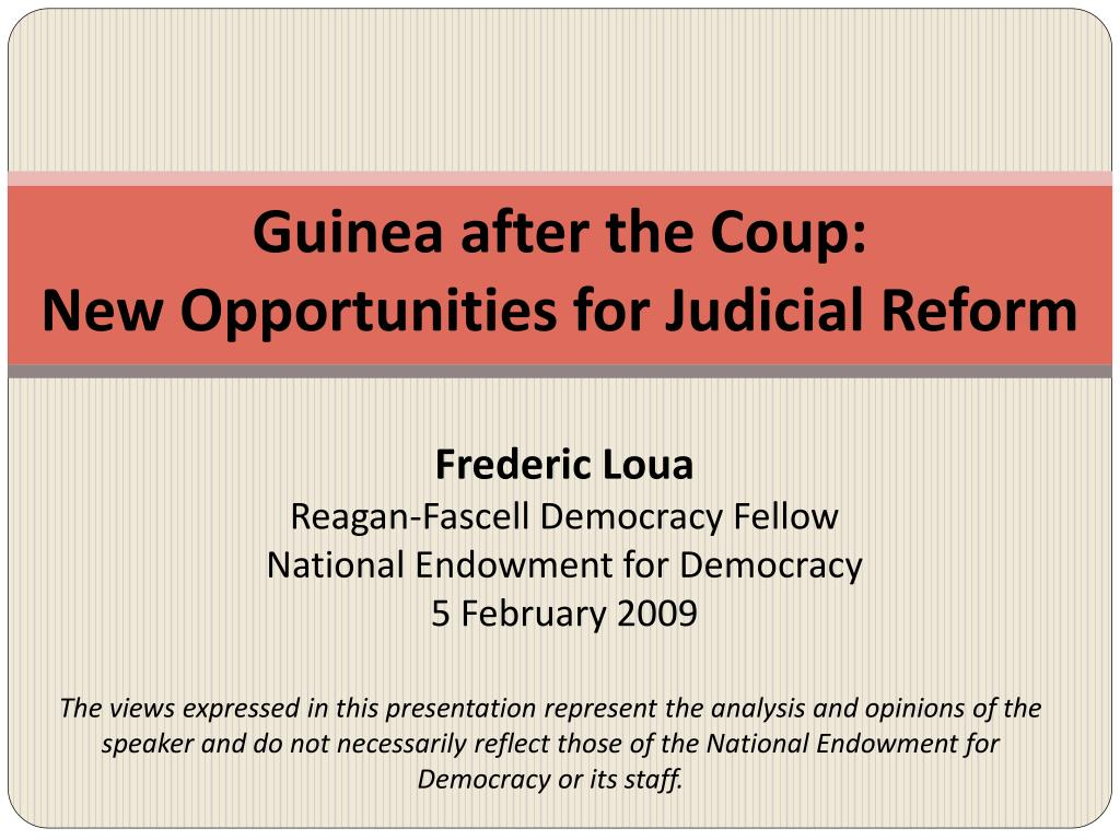 Guinea after the Coup: