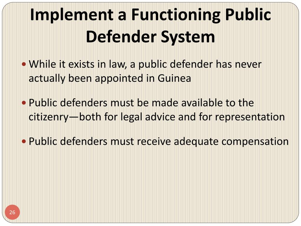 Implement a Functioning Public Defender System
