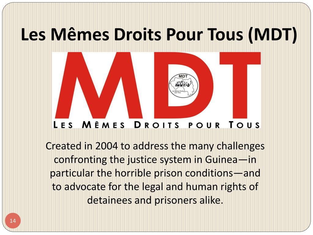 Les Mêmes Droits Pour Tous (MDT)