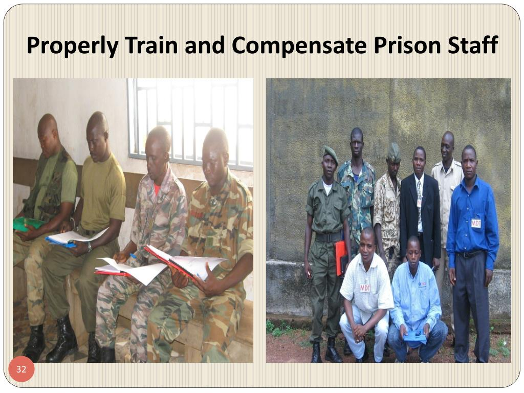 Properly Train and Compensate Prison Staff