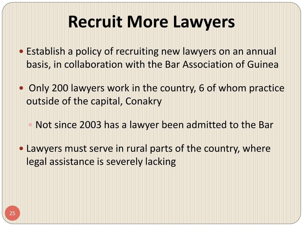 Recruit More Lawyers