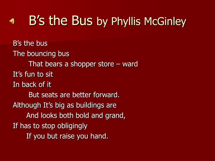 B's the Bus