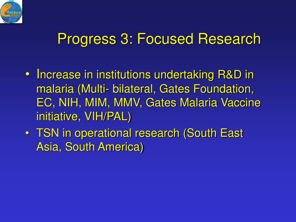Progress 3: Focused Research