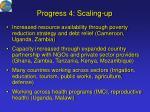 progress 4 scaling up19