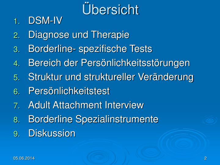 diagnostik und therapie der borderline ppt psychometrische verfahren zur diagnostik und 580 | bersicht n