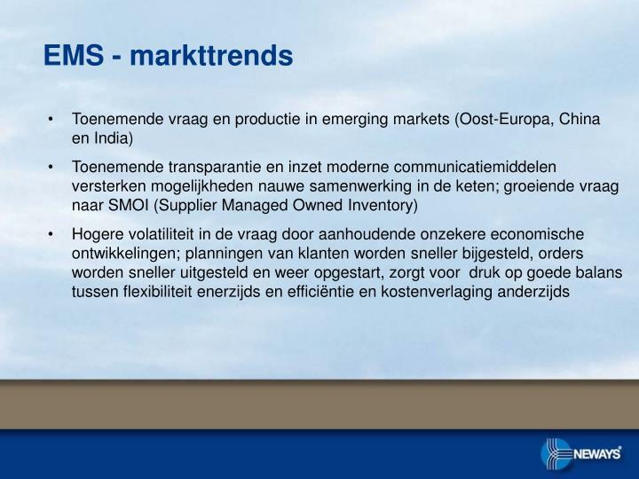 EMS - markttrends
