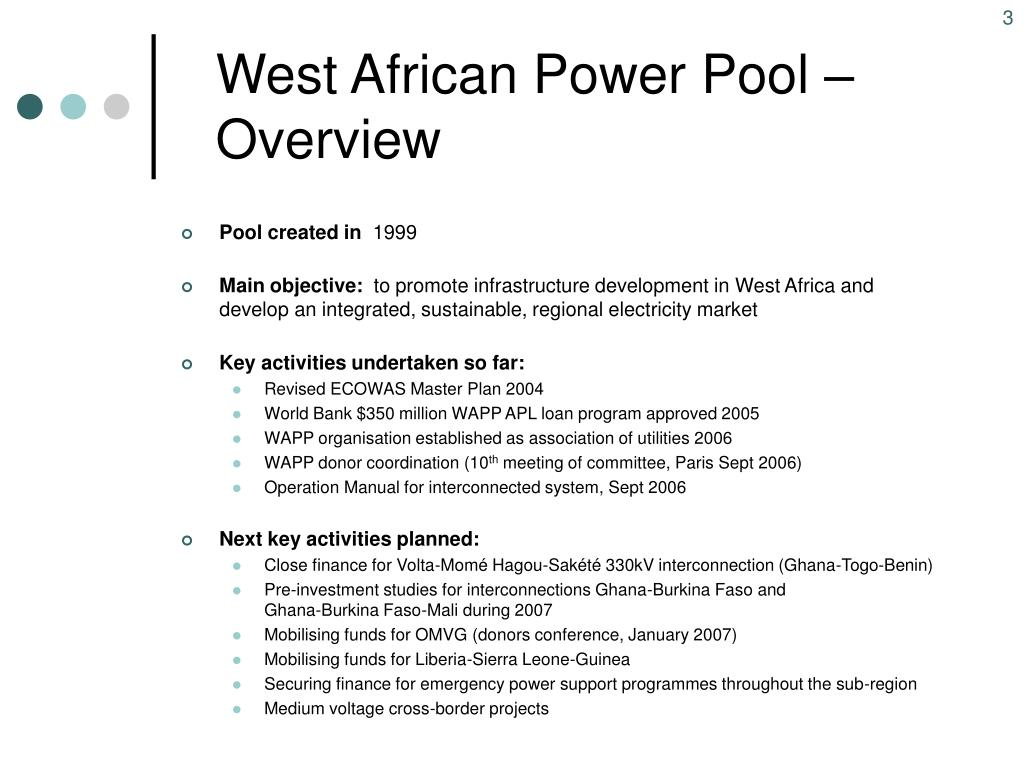 West African Power Pool – Overview