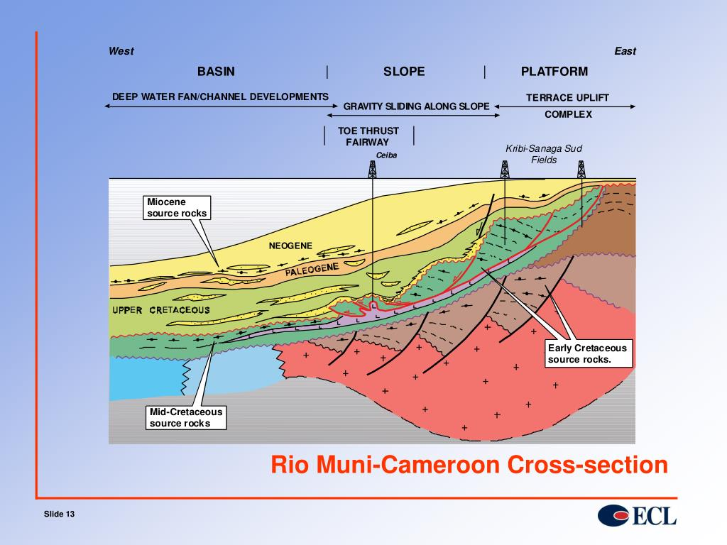 Rio Muni-Cameroon Cross-section