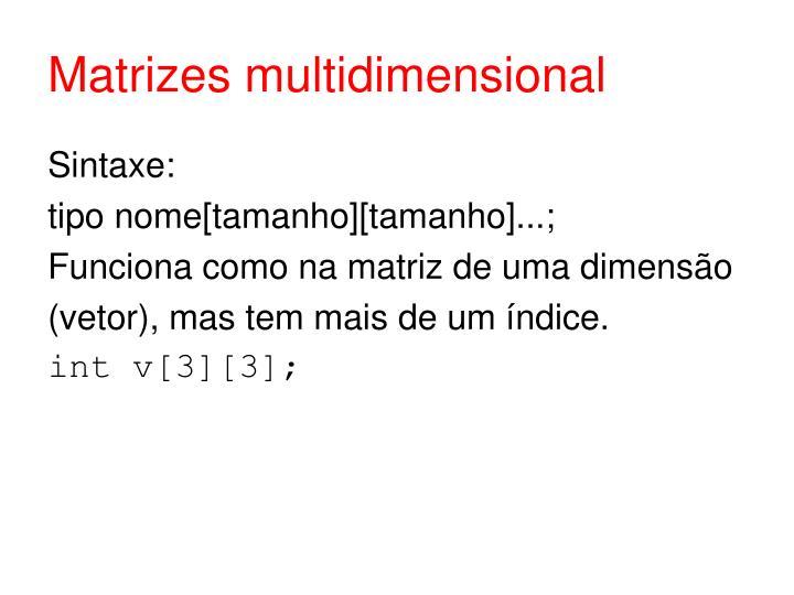 Matrizes multidimensional
