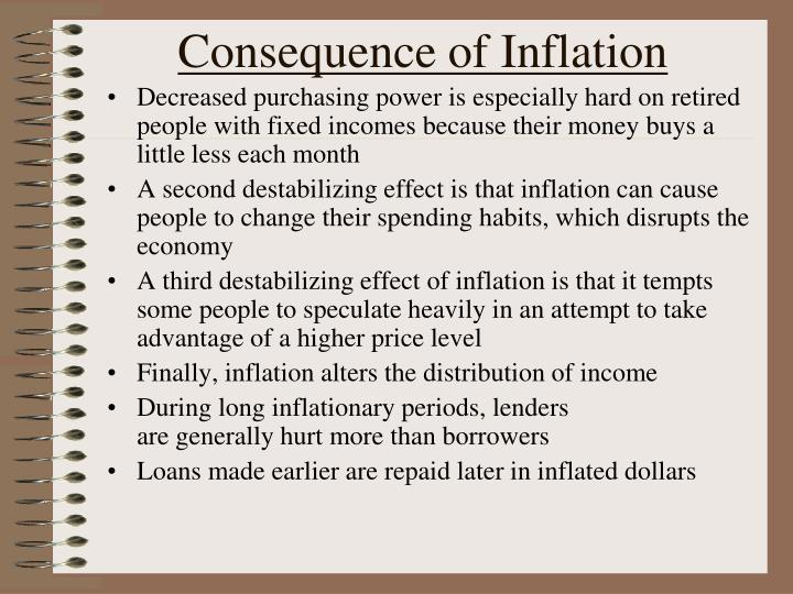 Consequence of Inflation