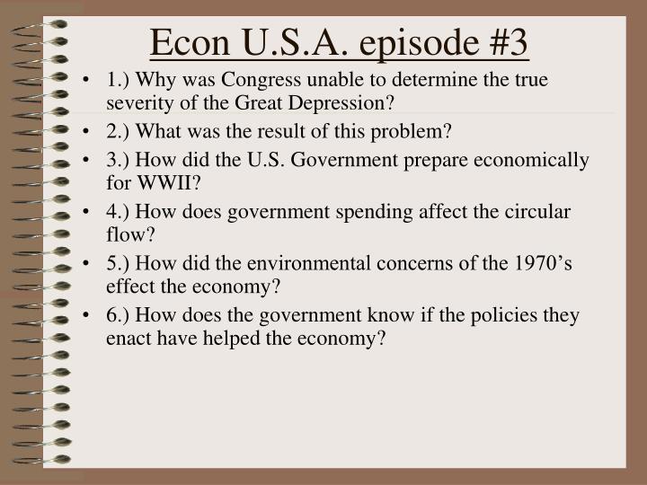 Econ U.S.A. episode #3