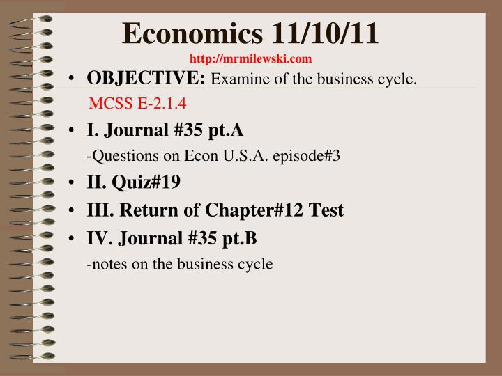 Economics 11/10/11