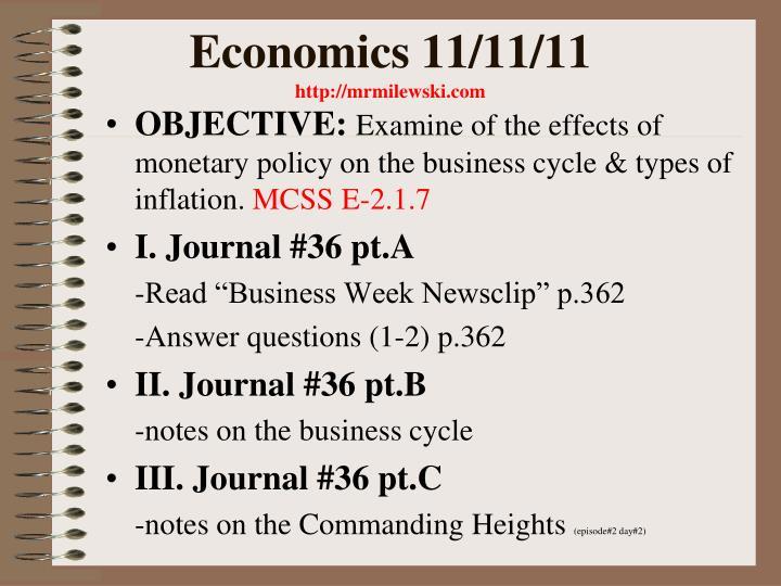 Economics 11/11/11