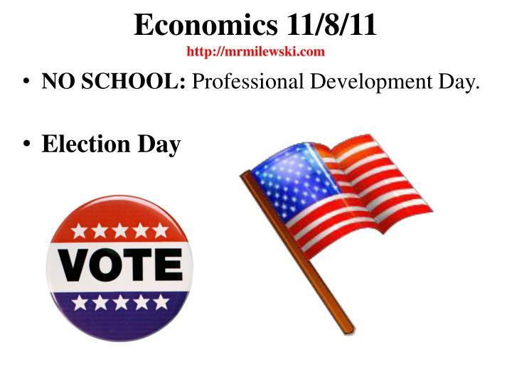 Economics 11/8/11