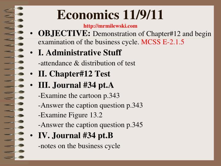 Economics 11/9/11