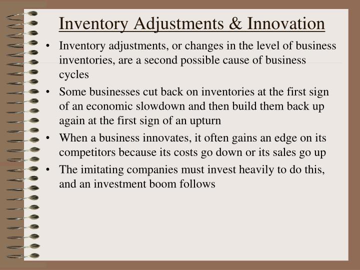 Inventory Adjustments & Innovation