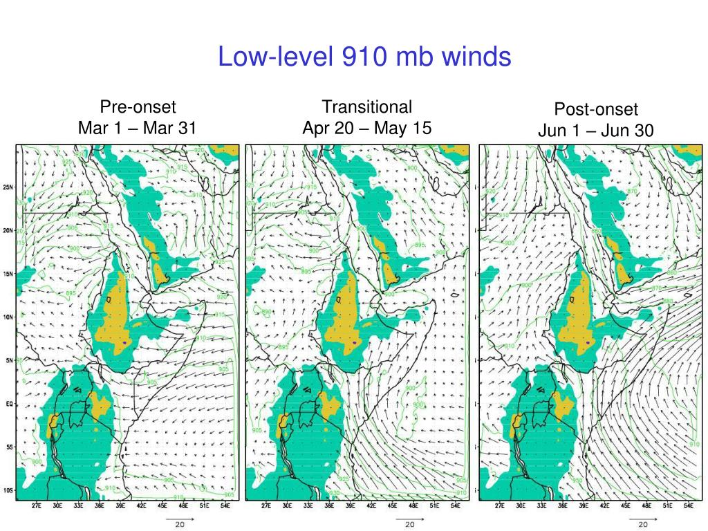 Low-level 910 mb winds