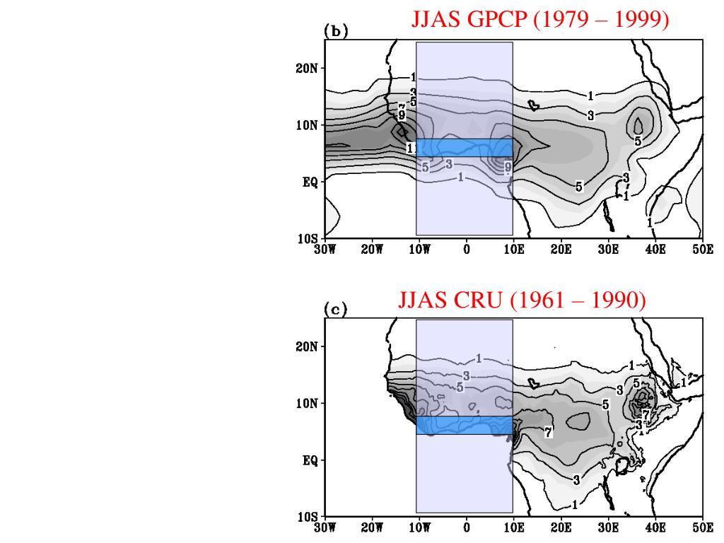 JJAS GPCP (1979 – 1999)