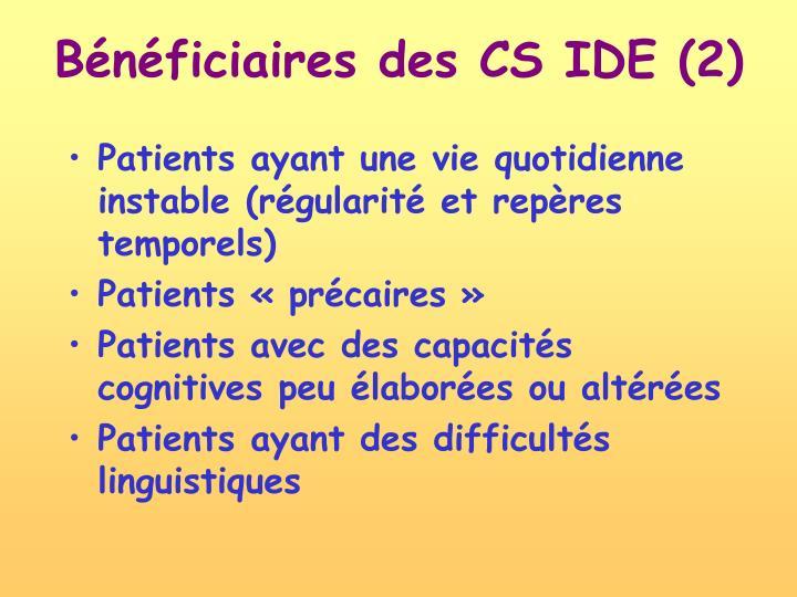 Bénéficiaires des CS IDE (2)