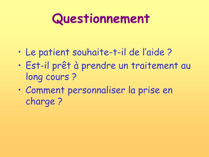 Questionnement