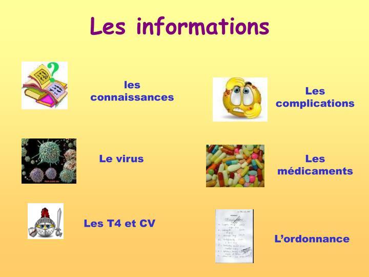 Les informations