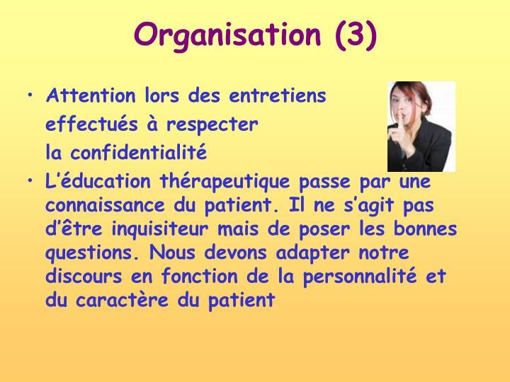 Organisation (3)