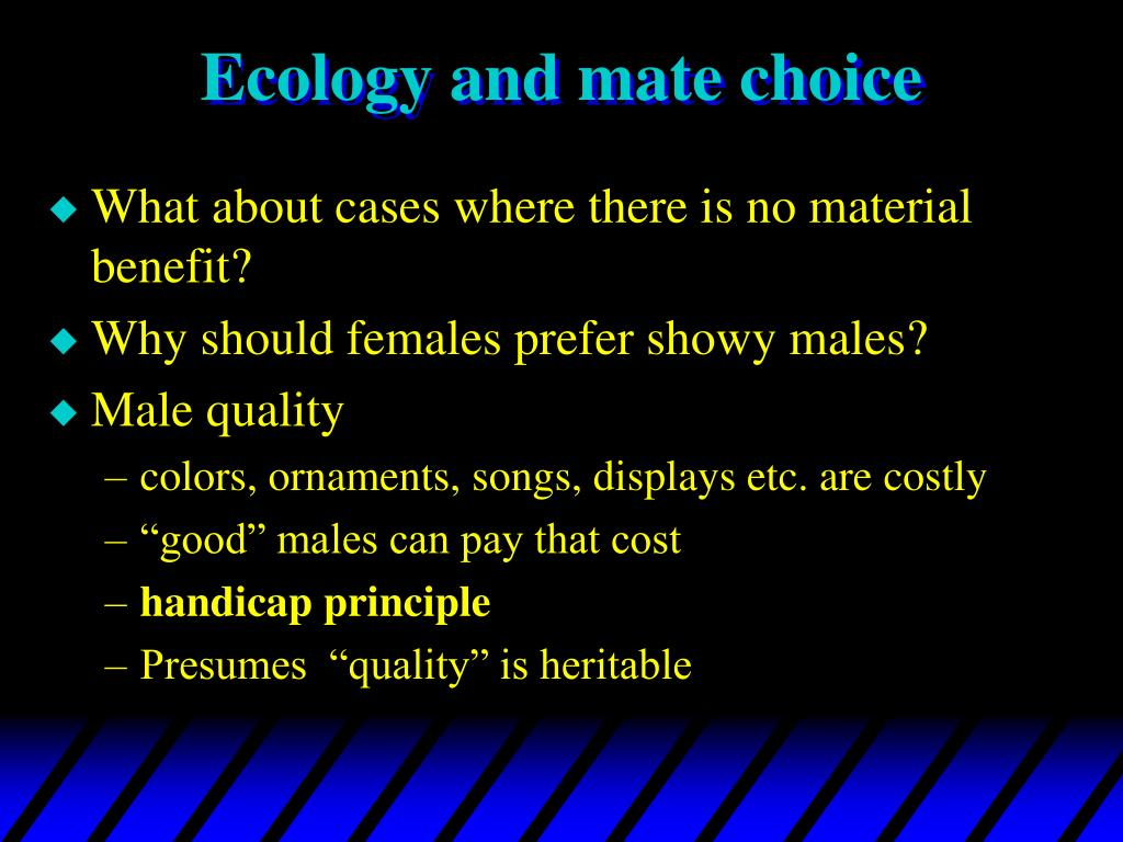 Ecology and mate choice
